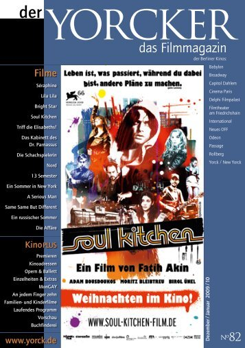 Yorcker Nr. 82 (Dez/Jan 2010) - Yorck Kino GmbH