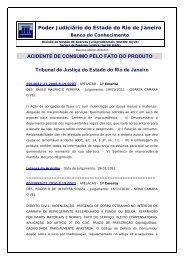 Acidente de Consumo - Tribunal de Justiça do Estado do Rio de ...
