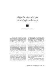 Edgar Morin, a dialogia de um Sapiens-demens - Uesb