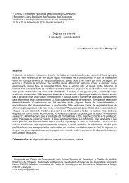 Objecto de adorno - Estudos do Consumo