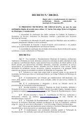 DECRETO N.º 280/2012. - Prefeitura Municipal de Uruguaiana