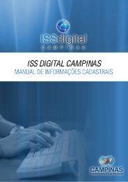 Manual de preenchimento das informações cadastrais - ISS Digital ...