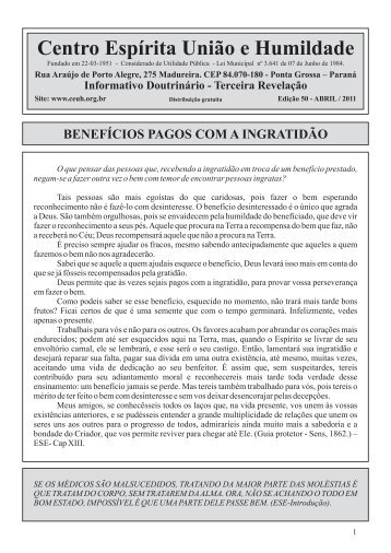 Edição 50 - Abril/2011 - CEUH - Centro Espirita Uniao e Humildade