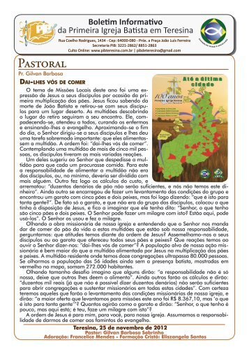 Pastoral - pib teresina