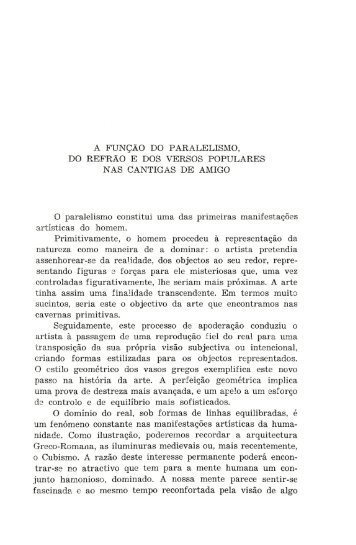 A FUNÇÃO DO PARALELISMO, DO REFRÃO E DOS ... - RUN UNL