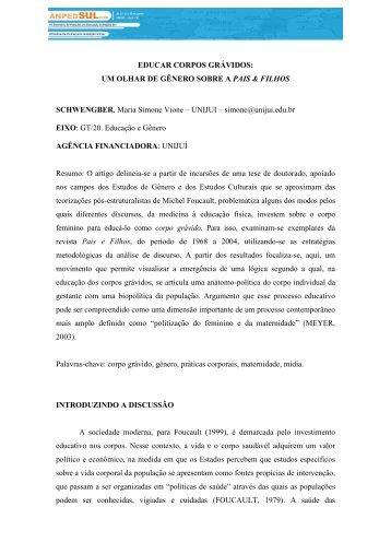 EDUCAR CORPOS GRÁVIDOS: UM OLHAR DE GÊNERO SOBRE ...