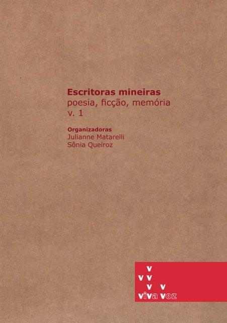Escritoras Mineiras: Poesia, Ficção e Memória - FALE - UFMG