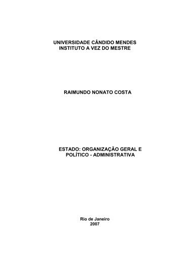 estado - AVM Faculdade Integrada