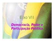 EIXO VII - Democracia, Poder e Participação Política - Fetraece