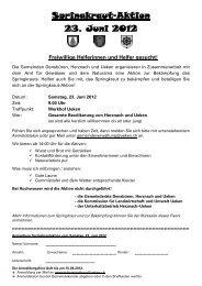 Freiwillige Helferinnen und Helfer gesucht! - Gemeinde Ueken