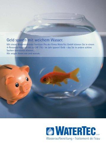 Geld sparen mit weichem Wasser. - Watertec GmbH