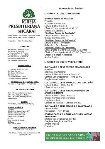 Adoração ao Senhor - Igreja Presbiteriana de Icaraí