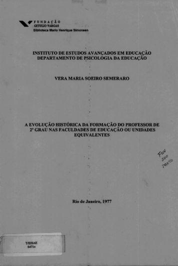 INSTITUTO DE ESTUDOS AVANÇADOS EM EDUCAÇÃO ...