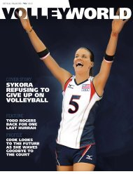 SYKORA REFUSING TO GIVE UP ON VOLLEYBALL