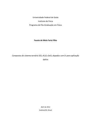 Universidade Federal de Goiás Instituto de Física Programa de Pós ...