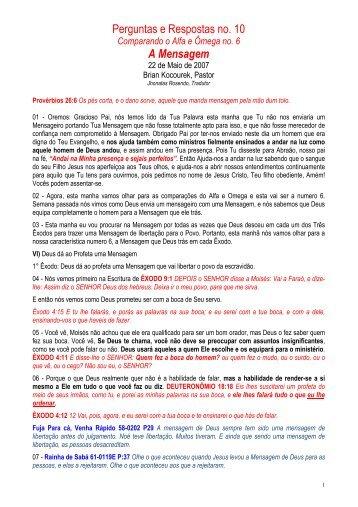 Perguntas e Respostas #10 - Message-Doctrine