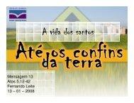 A vida dos santos - Ibcu.org.br