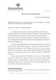 1 Música e Poesia em Manuel Bandeira. Luciano Marcos Dias ...