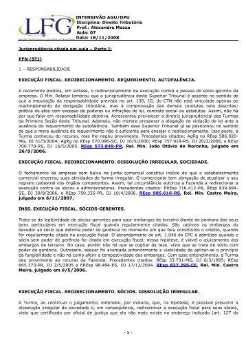 Direito Tributário Prof.: Alexandre Mazza Aula: 07 Data: 18/11 ... - LFG
