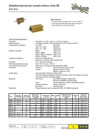 Aluminium housed wire-wound resistors series RB Data ... - Widap AG