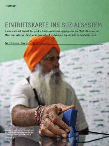 eintrittsKarte ins sozialsystem