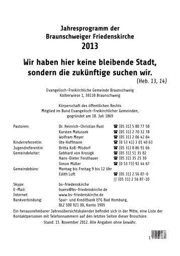 BSFK-Jahresprogramm-2013