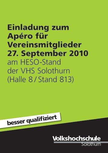 Halle 8 / Stand 813 - Volkshochschule Solothurn