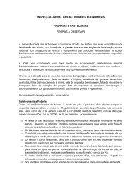 inspecção-geral das actividades económicas padarias e pastelarias ...