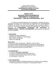 Edital Ortopedia Joelho 2013.docx - Faculdade de Medicina - UFG