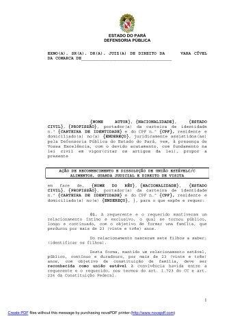 sr(a). dr(a). juiz(a) - Defensoria Pública do estado do Pará