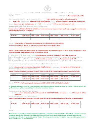 conselho regional de farmácia do estado do paraná - crf/pr