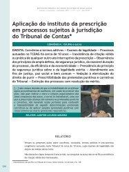 Aplicação do instituto da prescrição em processos ... - Revista do TCE