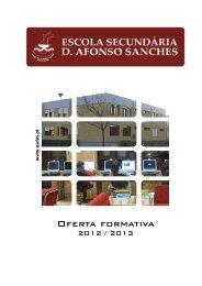Planos Curriculares - Escola Secundária D. Afonso Sanches