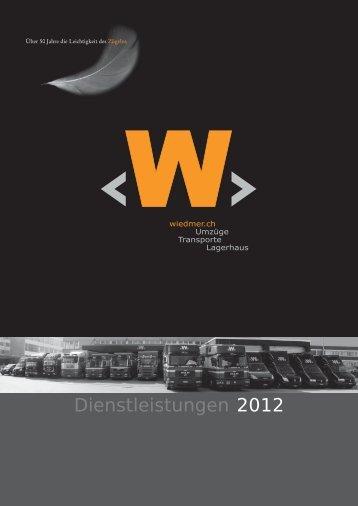 Preisliste 2012 - W. Wiedmer AG