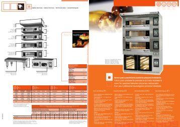 PASTELARIA forno para pastelaria·padaria·pizzaria ... - Manutotel