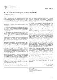 A Acta Pediátrica Portuguesa numa encruzilhada