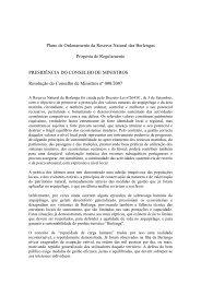 Plano de Ordenamento da Reserva Natural das Berlengas