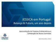 JESSICA em Portugal: - JESSICA Holding Fund Portugal