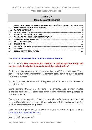 Direito Constitucional - Aula 03.pdf - Instituto de Geociências - UFRJ