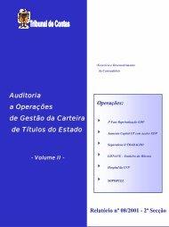 Relatório de Auditoria nº 8/2001 - Tribunal de Contas