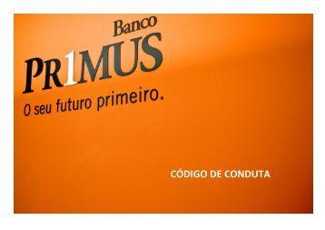 Código de Conduta - Banco Primus