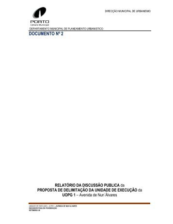 DOCUMENTO Nº 2 - Câmara Municipal do Porto