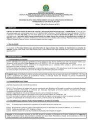 Edital nº 08/2013 - Instituto Federal do Sertão Pernambucano