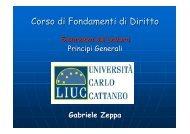 Corso di Fondamenti di Diritto - My LIUC