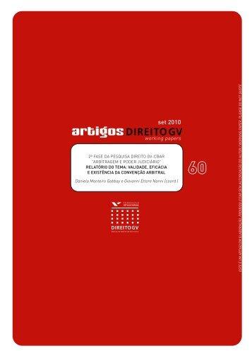 Working paper 60.pdf - Sistema de Bibliotecas da FGV - Fundação ...