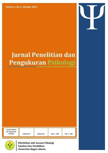 Jurnal Penelitian dan Pengukuran Psikologi UNJ