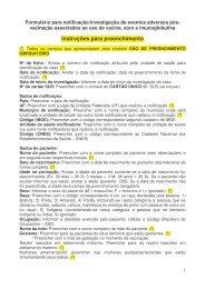 Formulario para notificacao investigacao de eventos ... - HC - UFPR