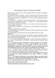 Resolução SES/MG nº604, de 19 de novembro de 2004