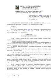Novo Regulamento de Defesa Sanitária Animal - Secretaria da ...