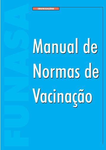 Manual de Normas de Vacinação - Ministério da Saúde